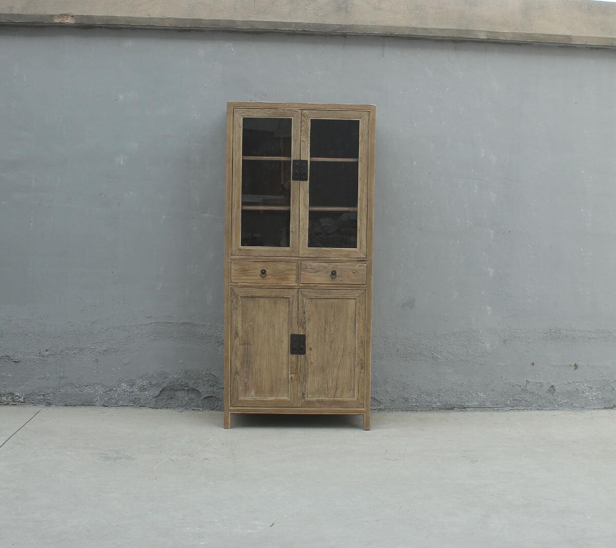 Koop Kabinetkast van olmhout met 4 deuren en 2 lades
