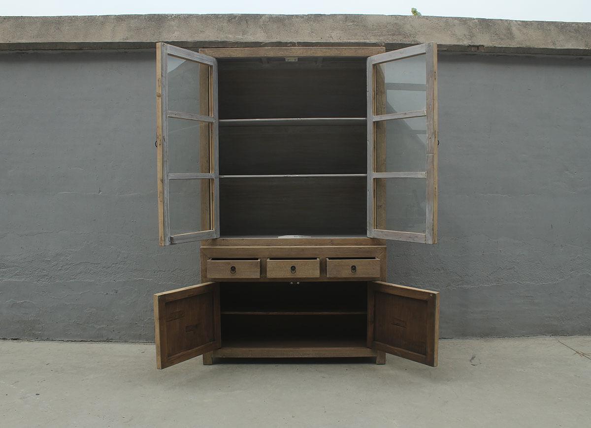 Koop Glaskast 4 deuren en 3 lades