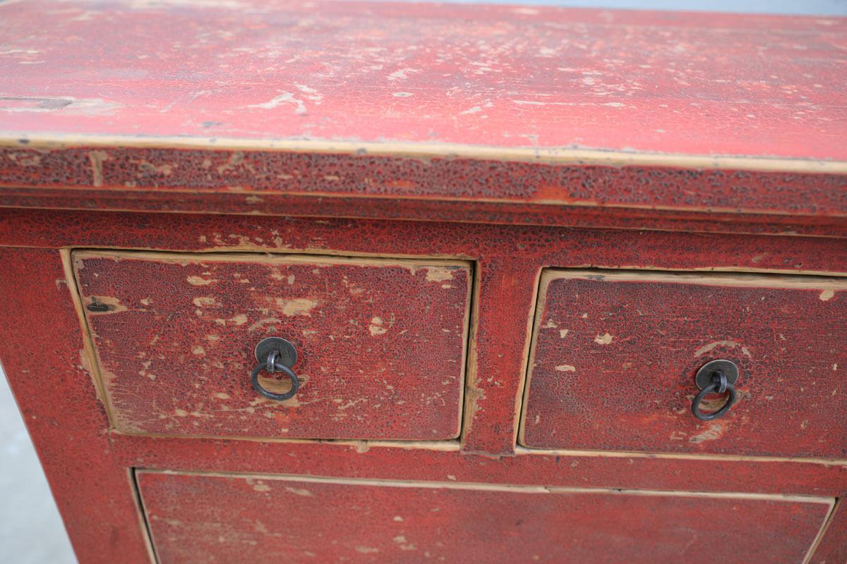 Koop Dressoir 2 deuren en 8 lades rood