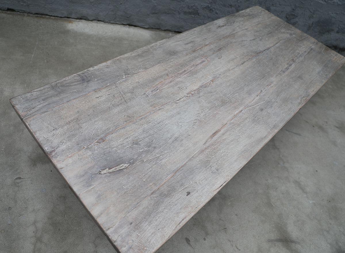 Koop Salontafel fruitwood met metalen onderstel