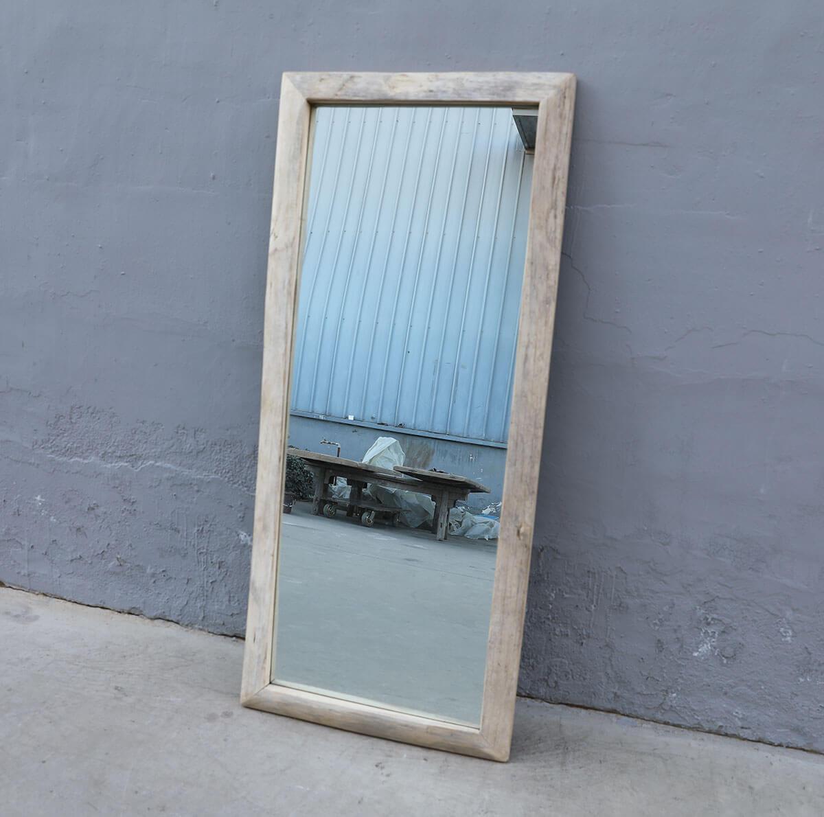 Koop Spiegel met oud houten lijst
