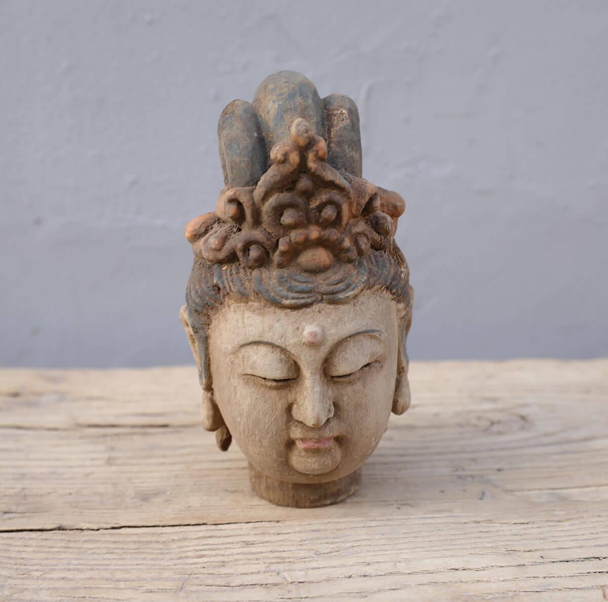 Koop Boeddha hoofd hout