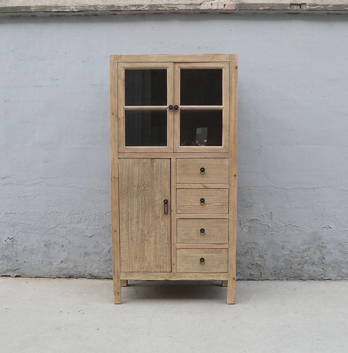 Koop Vitrinekast 3 deuren en 4 lades