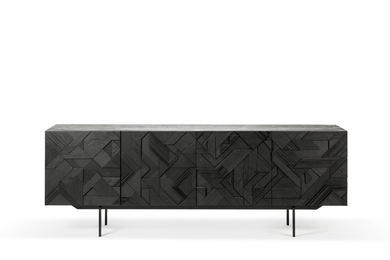 Koop Teak Graphic black sideboard by Ethnicraft